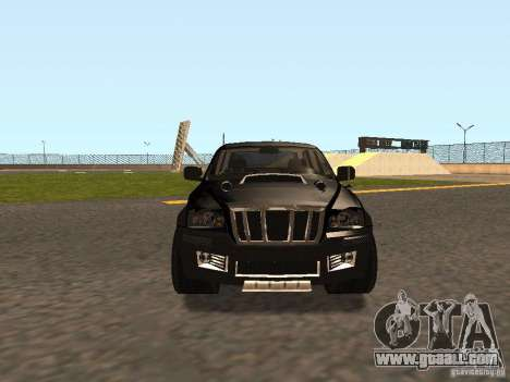 Jeep Grand Cherokee Black for GTA San Andreas left view