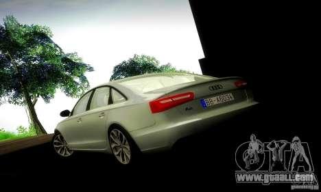 Audi A6 2012 for GTA San Andreas interior