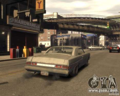 1975 Dodge Dart Rust for GTA 4 back left view