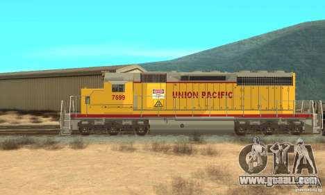 Locomotive SD 40 Union Pacific for GTA San Andreas back left view