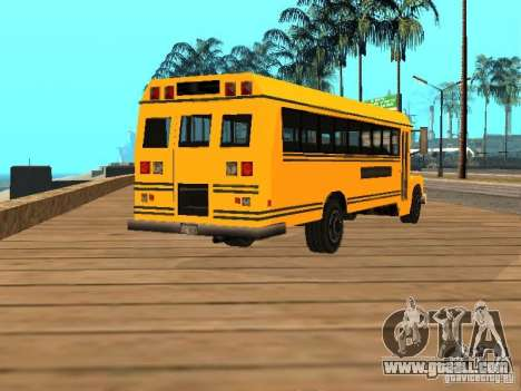 School bus for GTA San Andreas back left view