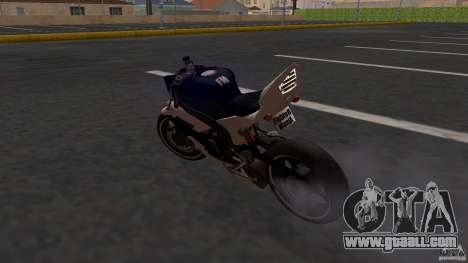 Yamaha YZF-R6 Street Fighter for GTA San Andreas back left view