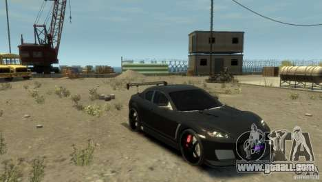 MAZDA RX8 for GTA 4 back left view