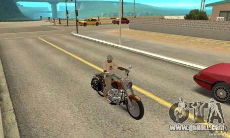Harley Davidson FLSTF (Fat Boy) v2.0 Skin 2 for GTA San Andreas right view