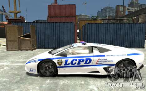 Lamborghini Reventon LCPD for GTA 4 left view