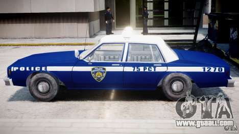 Chevrolet Impala Police 1983 [Final] for GTA 4 upper view