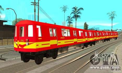 Liberty City Train Red Metro for GTA San Andreas