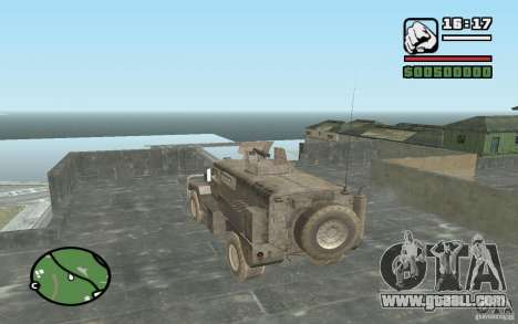 Military truck for GTA San Andreas left view