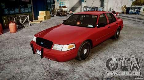 Ford Crown Victoria Detective v4.7 red lights for GTA 4