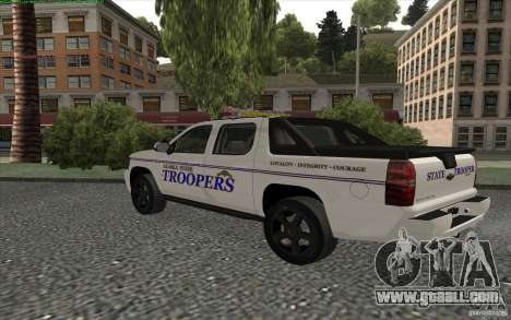 Chevrolet Avalanche Police for GTA San Andreas back left view