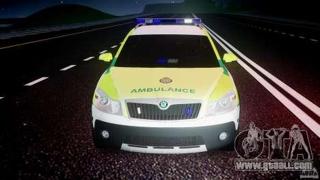 Skoda Octavia Scout Paramedic [ELS] for GTA 4 interior