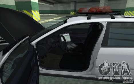 Chevrolet Impala 2003 SFPD for GTA San Andreas back left view