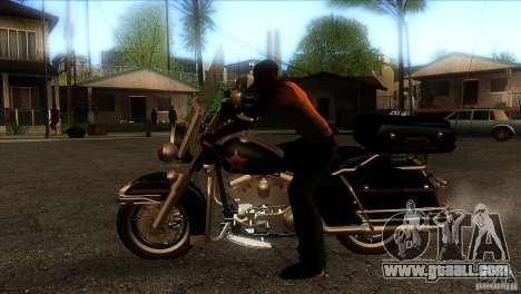 Harley Davidson for GTA San Andreas left view
