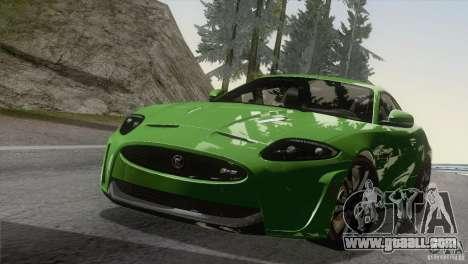 Jaguar XKR-S 2011 V1.0 for GTA San Andreas inner view