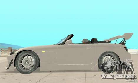 Honda S2000 Cabrio West Tuning for GTA San Andreas back left view