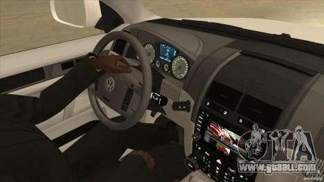 Volkswagen Touareg R50 for GTA San Andreas inner view