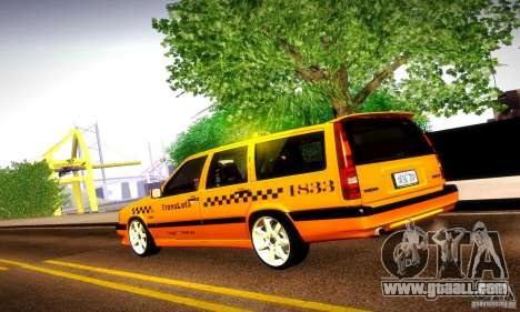 Volvo 850 R Taxi for GTA San Andreas left view