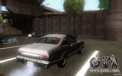 Plymouth Volare Coupe 1977 for GTA San Andreas back view