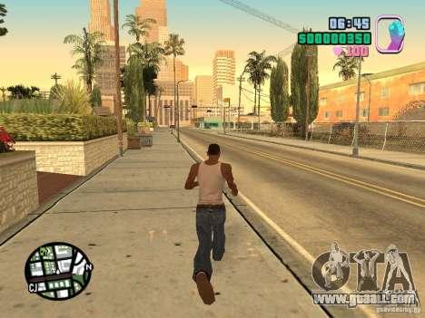 Vice City Hud for GTA San Andreas second screenshot