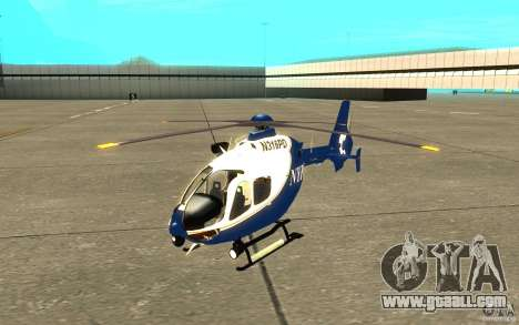 NYPD Eurocopter By SgtMartin_Riggs for GTA San Andreas left view