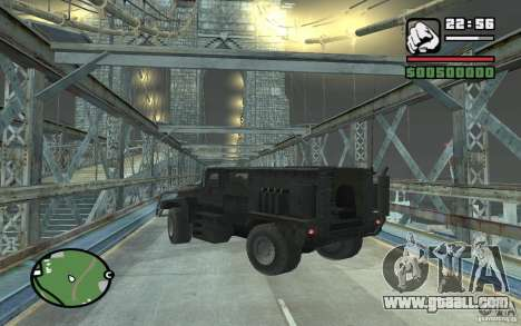 Military truck for GTA San Andreas side view