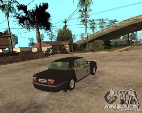 GAZ Volga 3110 Police weekdays for GTA San Andreas back left view