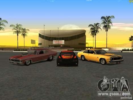 Chevrolet Camaro NOS for GTA San Andreas back view