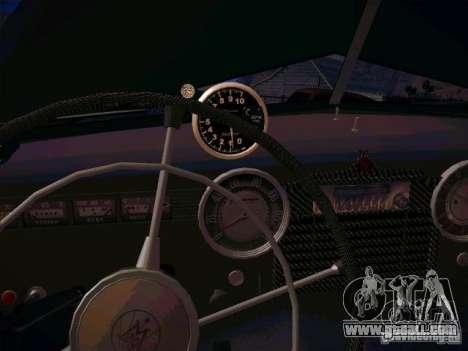 GAZ m 20 Winning 1956 for GTA San Andreas inner view