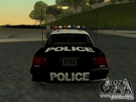 Police Civic Cruiser NFS MW for GTA San Andreas right view