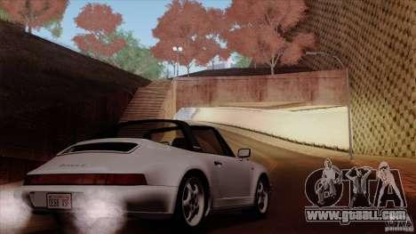 Porsche 911 Carrera 4 Targa (964) 1989 for GTA San Andreas bottom view