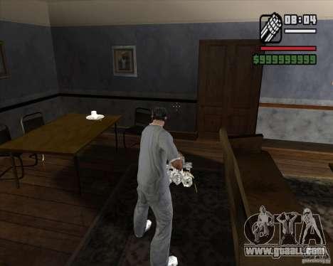 Chrome Minigun for GTA San Andreas third screenshot