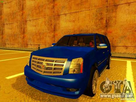 Cadillac Escalade for GTA San Andreas inner view