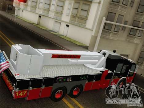 Seagrave Marauder II. SFFD Ladder 147 for GTA San Andreas engine