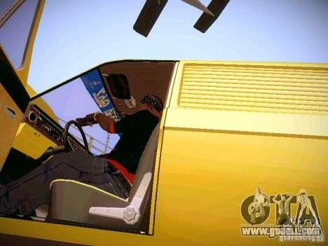 GAZ-24 Volga 02 Van for GTA San Andreas inner view