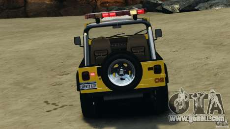 Jeep Wrangler 1988 Beach Patrol v1.1 [ELS] for GTA 4 bottom view