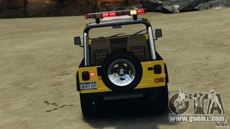 Jeep Wrangler 1988 Beach Patrol v1.1 [ELS] for GTA 4 bottom view
