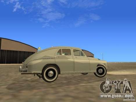 GAZ M20 Pobeda 1949 for GTA San Andreas inner view
