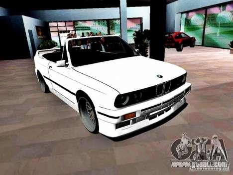 BMW M3 E30 Cabrio for GTA Vice City right view