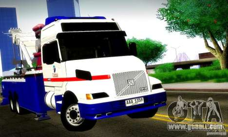 Volvo NH12 Towtruck for GTA San Andreas back left view