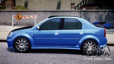 Dacia Logan 2008 [Tuned] for GTA 4 back left view