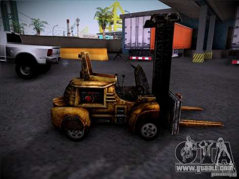 Forklift from the TimeShift for GTA San Andreas left view
