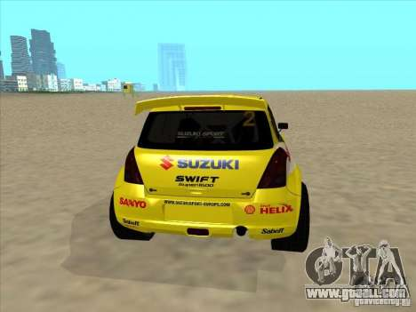 Suzuki Rally Car for GTA San Andreas back left view
