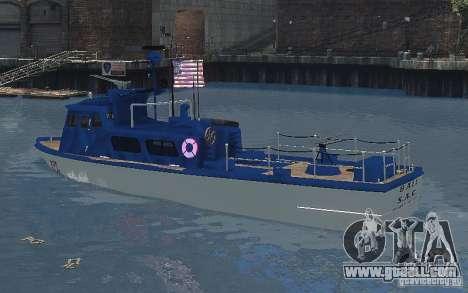 Coast Guard Patrol for GTA 4 back left view