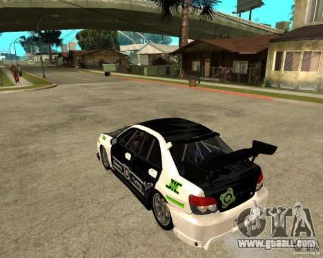 Subaru Impreza Elemental Attack for GTA San Andreas left view