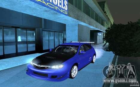 Subaru Impreza WRX STI 2008 Tunable for GTA San Andreas back left view
