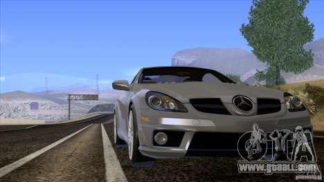 Mercedes-Benz SLK 55 AMG for GTA San Andreas inner view