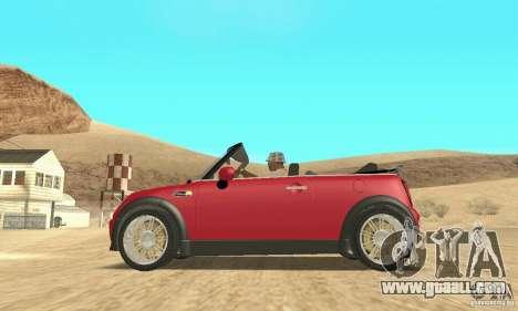 Mini Cooper Convertible for GTA San Andreas right view