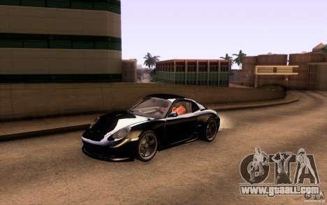 Ruf RK Coupe V1.0 2006 for GTA San Andreas bottom view