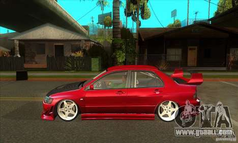 Mitsubishi Lancer Evolution VIII for GTA San Andreas left view
