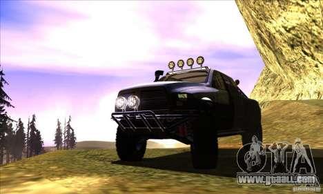 Dodge Ram All Terrain Carryer for GTA San Andreas inner view